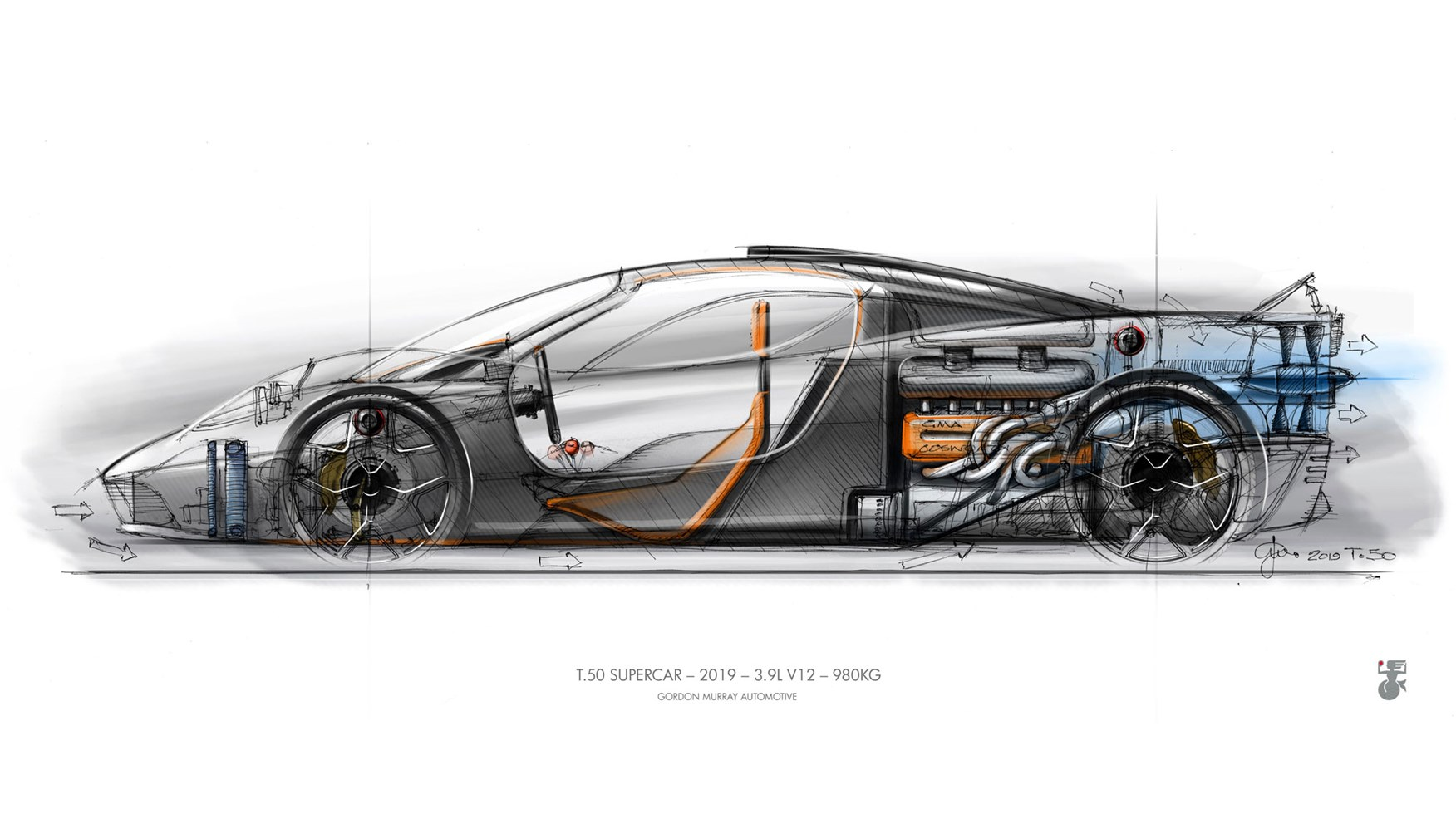 Gordon Murray Automotive reveals T.50 supercar